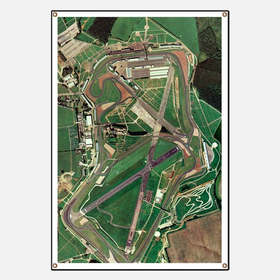 Silverstone race track, aerial image Banner