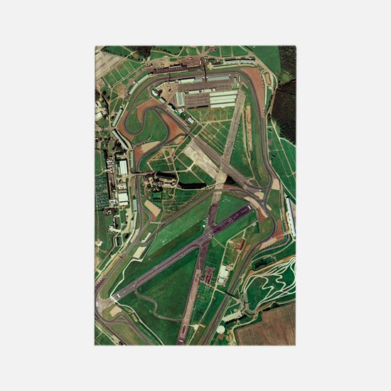 Silverstone race track, aerial im Rectangle Magnet