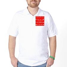 Features of fingerprints, artwork T-Shirt
