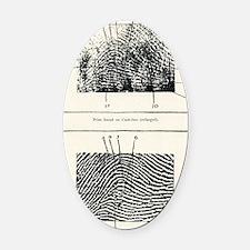 Fingerprint evidence, 1905 murder  Oval Car Magnet