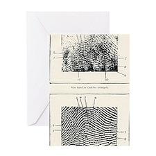Fingerprint evidence, 1905 murder ca Greeting Card