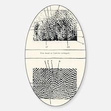 Fingerprint evidence, 1905 murder c Decal