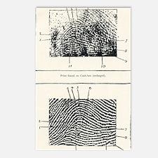 Fingerprint evidence, 190 Postcards (Package of 8)