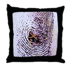 Fingerprint analysis Throw Pillow