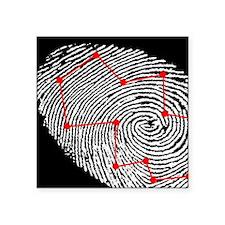 "Fingerprint scanning Square Sticker 3"" x 3"""