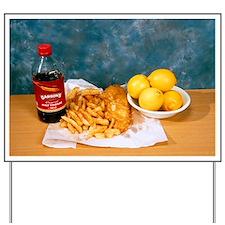 Fish and chips Yard Sign