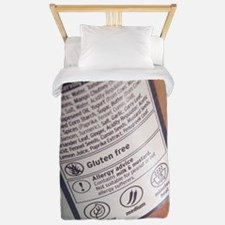 Food labelling Twin Duvet