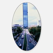 Skyscraper Sticker (Oval)
