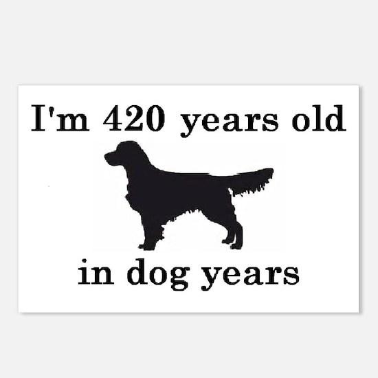 60 birthday dog years golden retriever 2 Postcards