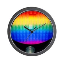 Silicon sunrise Wall Clock