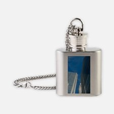Skyscrapers in Canary Wharf Flask Necklace