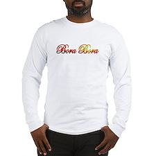 Funny Bora bora Long Sleeve T-Shirt