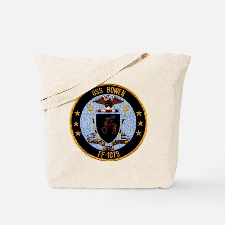 uss bowen ff patch transparent Tote Bag