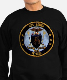 uss bowen ff patch transparent Sweatshirt