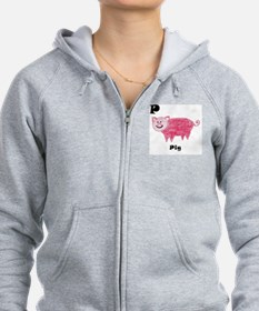 P is for Pig Zip Hoodie