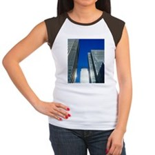 Skyscrapers in Canary W Women's Cap Sleeve T-Shirt