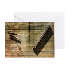 Objects on Concrete Wall Greeting Card
