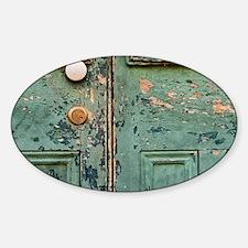 Peeling Paint on a Door Decal