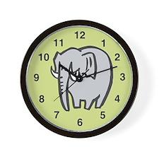 Elephant Wall Clock: Cute Elephant