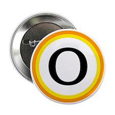 "Monogrammed Halloween Trick Or Treat  2.25"" Button"