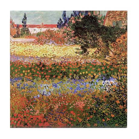 Van Gogh Ceramic Art Tile Flowering Garden
