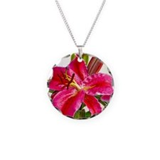 Bright Red Lily Necklace