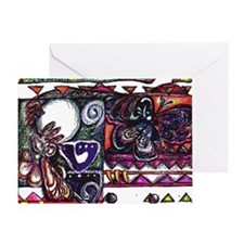 Ixpapalotl -Obsidian Butterfly Greeting Card