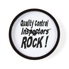 QC Inspectors Rock ! Wall Clock