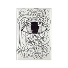 Tentacley Eye-Con Clear Rectangle Magnet