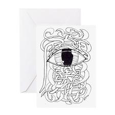 Tentacley Eye-Con Clear Greeting Card