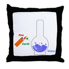 Air, Water, Fire and Earth Throw Pillow