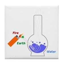 Air, Water, Fire and Earth Tile Coaster