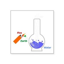 """Air, Water, Fire and Earth Square Sticker 3"""" x 3"""""""