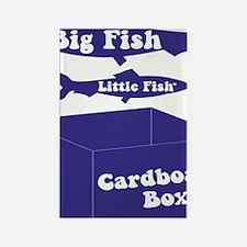 Big Fish Navy Rectangle Magnet