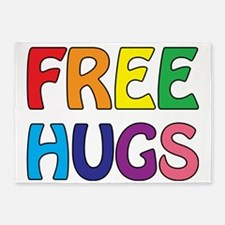 Free Hugs 5'x7'Area Rug