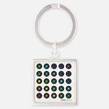 Rainbow Vinyl Square Keychain