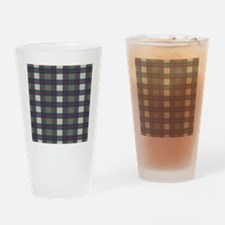 Earthy Plaid Drinking Glass