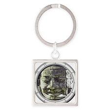 Bayon Buddha Square Keychain