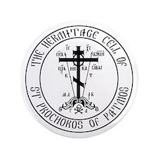 """Hermitage logo 3.5"""" Button"""