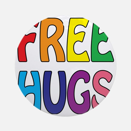 Free Hugs Round Ornament