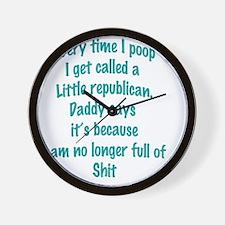 Full of it Wall Clock