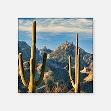 """saguaro vista Square Sticker 3"""" x 3"""""""