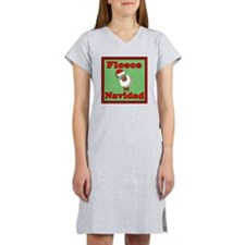 FleeceShowerCurtainLiteGreen Women's Nightshirt