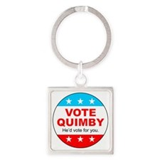 Vote Quimby Square Keychain