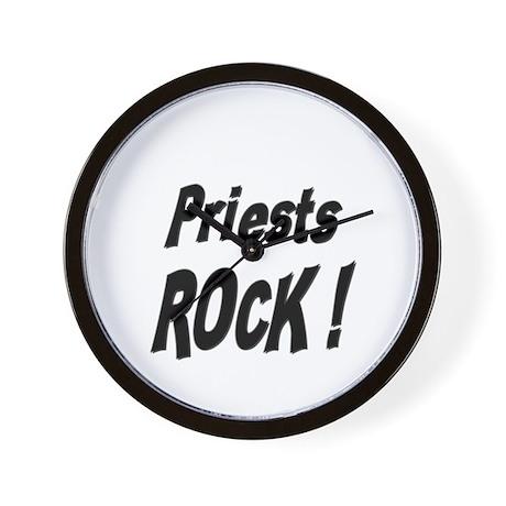 Priests Rock ! Wall Clock