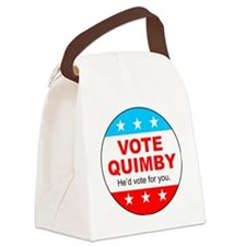 Vote Quimby Canvas Lunch Bag
