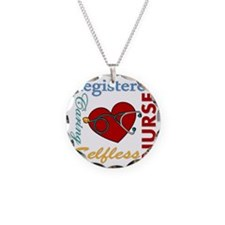 Registered Nurse Necklace Circle Charm