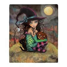 Halloween Hill Throw Blanket