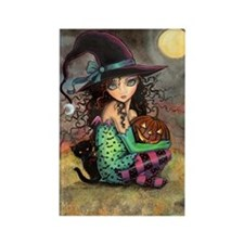 Halloween Hill Rectangle Magnet