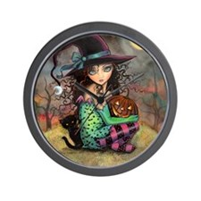 Halloween Hill Wall Clock